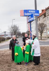Poświęcenie ronda im. św.Klemensa